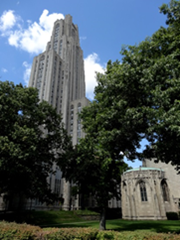 That's the Cathedral of Learning at the University of Pittsburgh. Home to The Graduate School of Business in 1977.