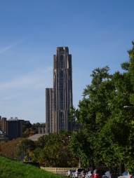 When I attended the University of Pittsburgh, my classes were in that building (about 2/3s of the way up).