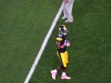 I have liked Antonio Brown since the Steelers had him tucked away on special teams. He is a great receiver and I wore his jersey to the game.