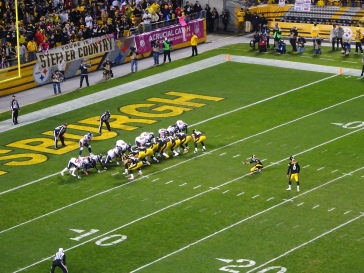 Late in the 1st half, the Steelers scored their first three points on this kick