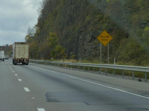 I-80 landscape is interesting
