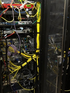 You have to look hard for color in the winter. This is one of two racks in our server room – the stuff behind the scenes most people just take for granted.