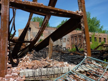 Somers Mill – aftermath of an intense fire