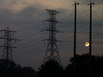 Another sunrise over those power lines