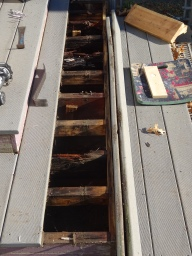 The rot was not confined to the sagging area. almost all the supports on that level were rotted.