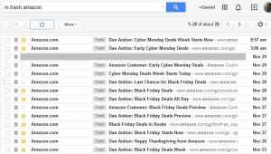 "My inbox is loaded with ""marketing"""