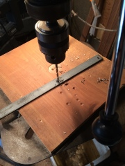 A drill press and a sharp bit made short work of those holes.