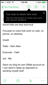 Evernote on iPhone