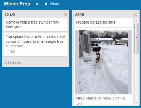 Trello Winter Prep