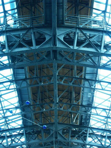 Close-up of the steel structure.