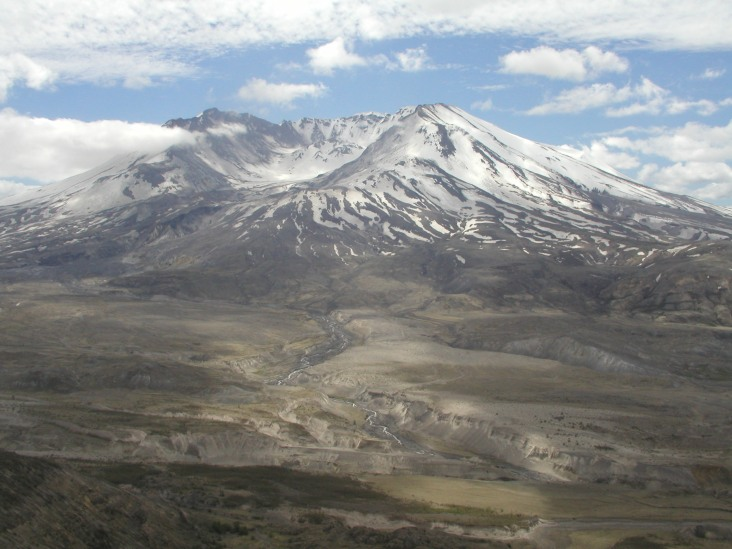 Mt St Helens was a perfectly shaped mountain before the eruption. It's still beautiful