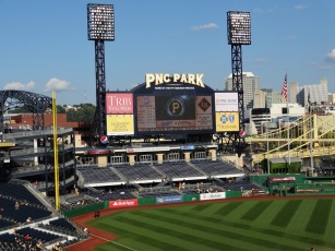 Having grown up watching games in Forbes Field and then suffering through games at Three Rivers Stadium, I can't tell you how happy I was to visit PNC Park.
