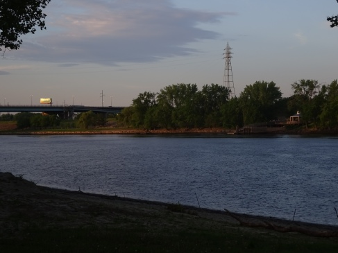 From Great River Park, you can look across to Charter Oak Landing.