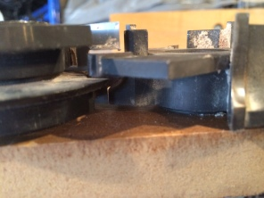 Here you can see how the profiles of the cutters are the reverse of each other.