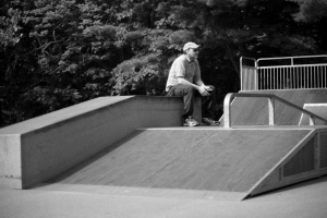 My daughter took this photo in 2009. They added a skateboard area to the park I used to play in. Nothing like that in my day.