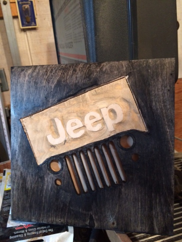 Jeep plaque finished