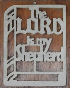 Plaque - The Lord is my shepherd