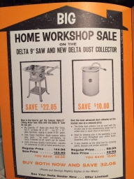 Table Saw Ad for the delta saw my father owned