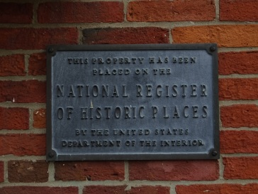 Historic places plaque