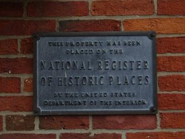 Historic places plaque