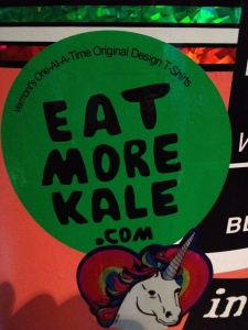 Bumper sticker for kale