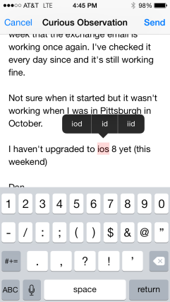 ios speeling correction