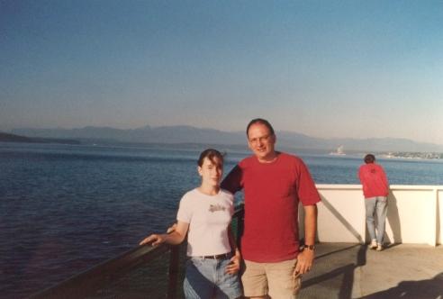 Faith and me on thethe ferry