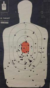 Destroyed target