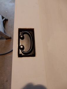 Recessed Mission style drawer pull