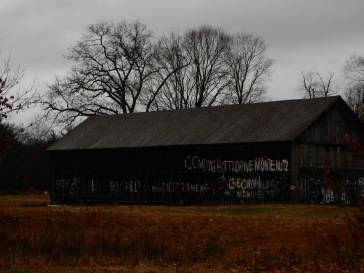 The barn is in pretty good shape, but the graffiti is sad.