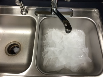 Yeah, I take pictures of the ice after I toss it out. For the emails...