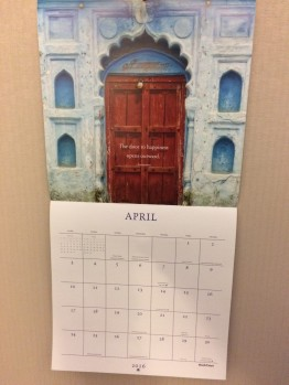 A new entry this year, my wife got me the Doors and Windows calendar. I wonder why?