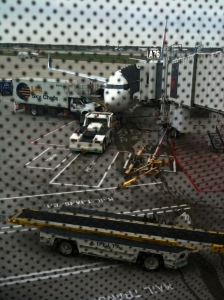 plane at the gate.