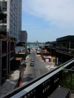 From the High Line, looking down toward the Hudson