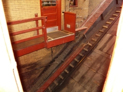 That's the entrance to the Duquesne Incline. Once the car arrives, you enter and exit through that door.