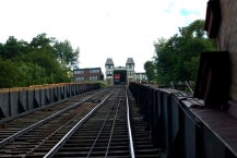 looking up the tracks