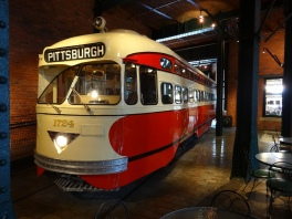I used to ride the trolley into Pittsburgh with my mother. This is at the Heinz History Museum