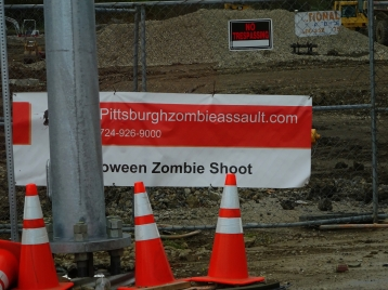 Zombie Shoot sign