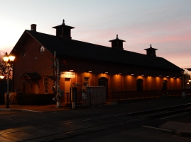 An early morning shot of the depot