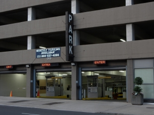 Gold Building Garage