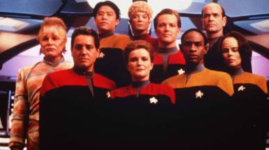 The crew of Star Trek Voyager