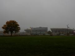 Jack Thrice Stadium - a little foggy.