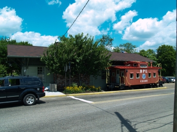 They turned the Caboose into the Children's Library