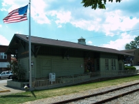Bridgeville Public Library - They converted the railroad station into a library