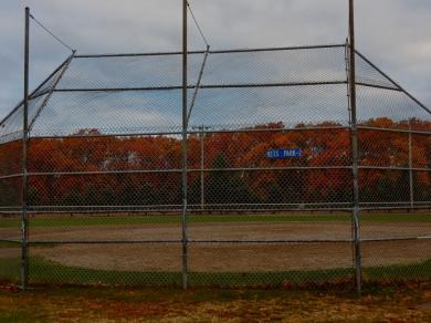 Quiet baseball field
