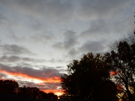 """""""Is that red sky at morning, sailor's warning or...?"""""""
