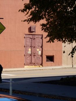 Interesting door. I looks like they took it off the back of a semi