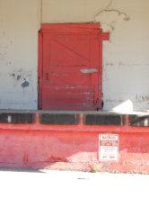 This loading dock door has seen better days, but it's still functioning.