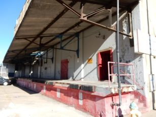 Still active warehouse on the Strip