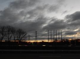 Gray skies sunrise